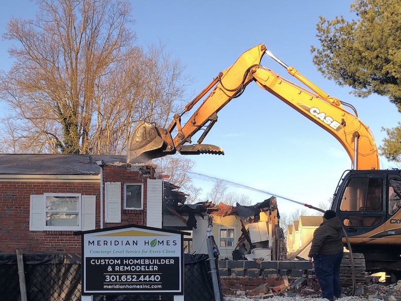 10006 Broad Street Bethesda - Demolition 1 - cropped