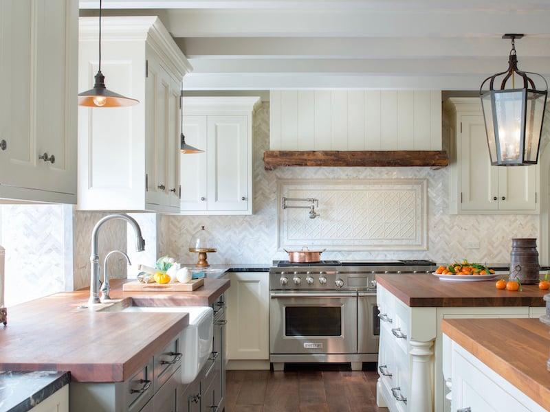 Architessa Herringbone Tile Kitchen Backsplash