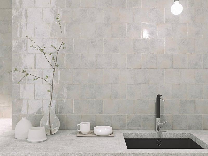 Architessa Kitchen Mulit-Tonal Square Tile Manta install residential kitchen sink_KARUI_SMOKE