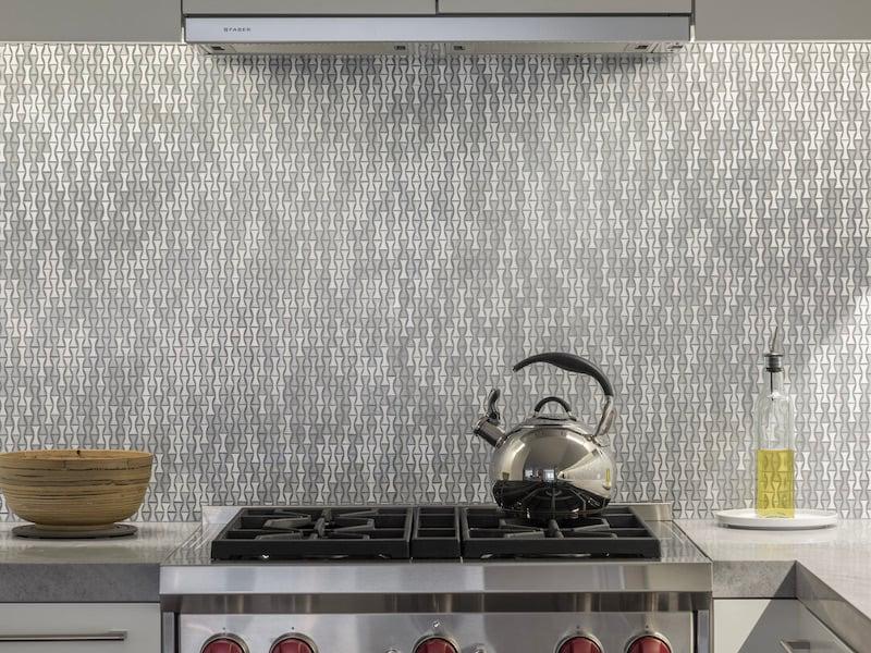 Architessa Mosaic Artistic Tile_Singer Residence_Kitchen_Lena_Bebop White - 4 2