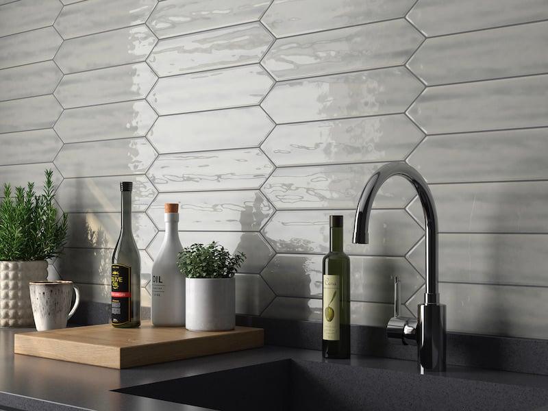 Architessa Textured Subway Tile - Hustle Dark Gray picket 2