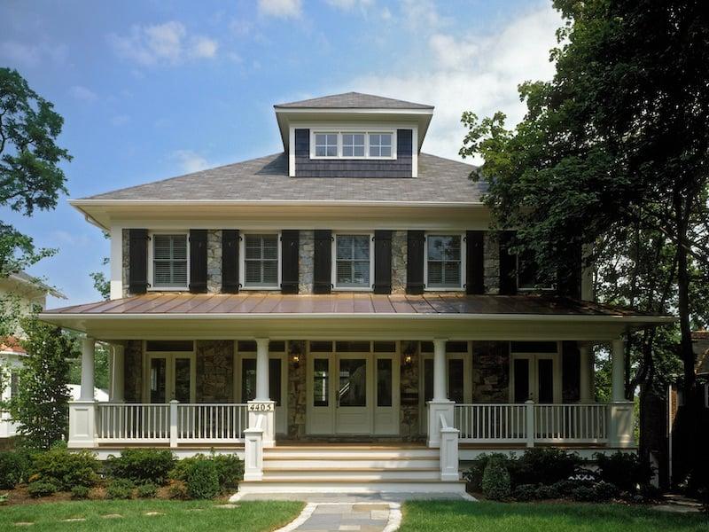 Arts & Crafts Architecture & Home Design - American Foursquare