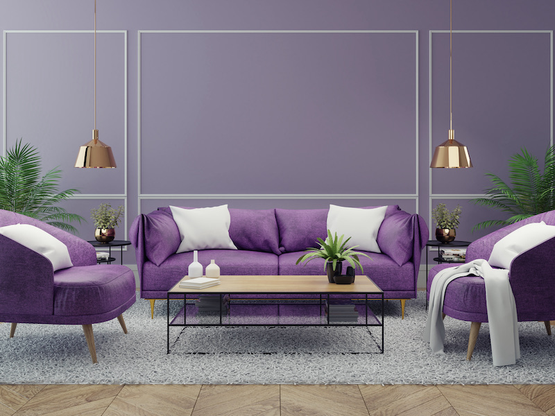 How Room Color Can Influence Your Mood - Purple Living Room