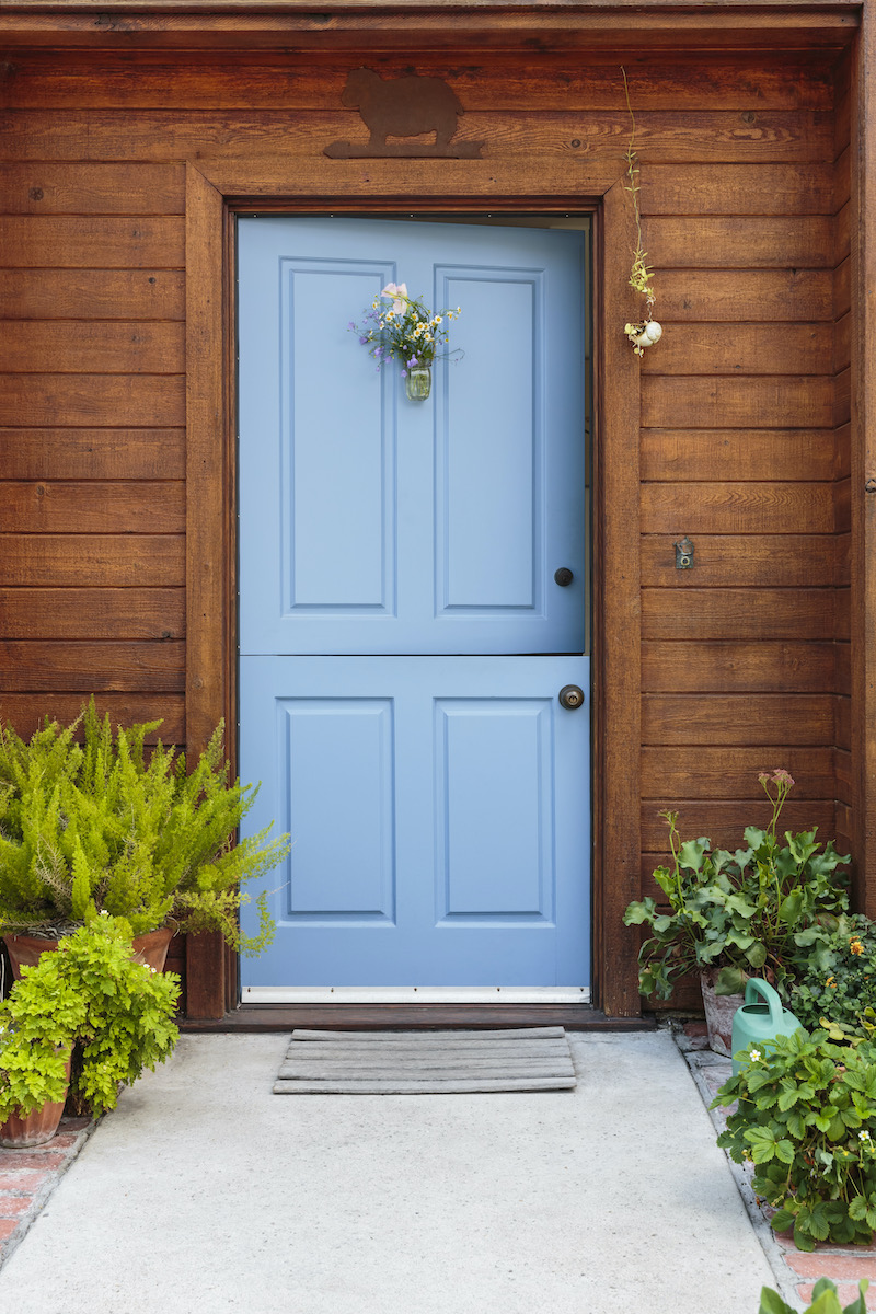 How To Choose A Front Door - Blue Dutch Door