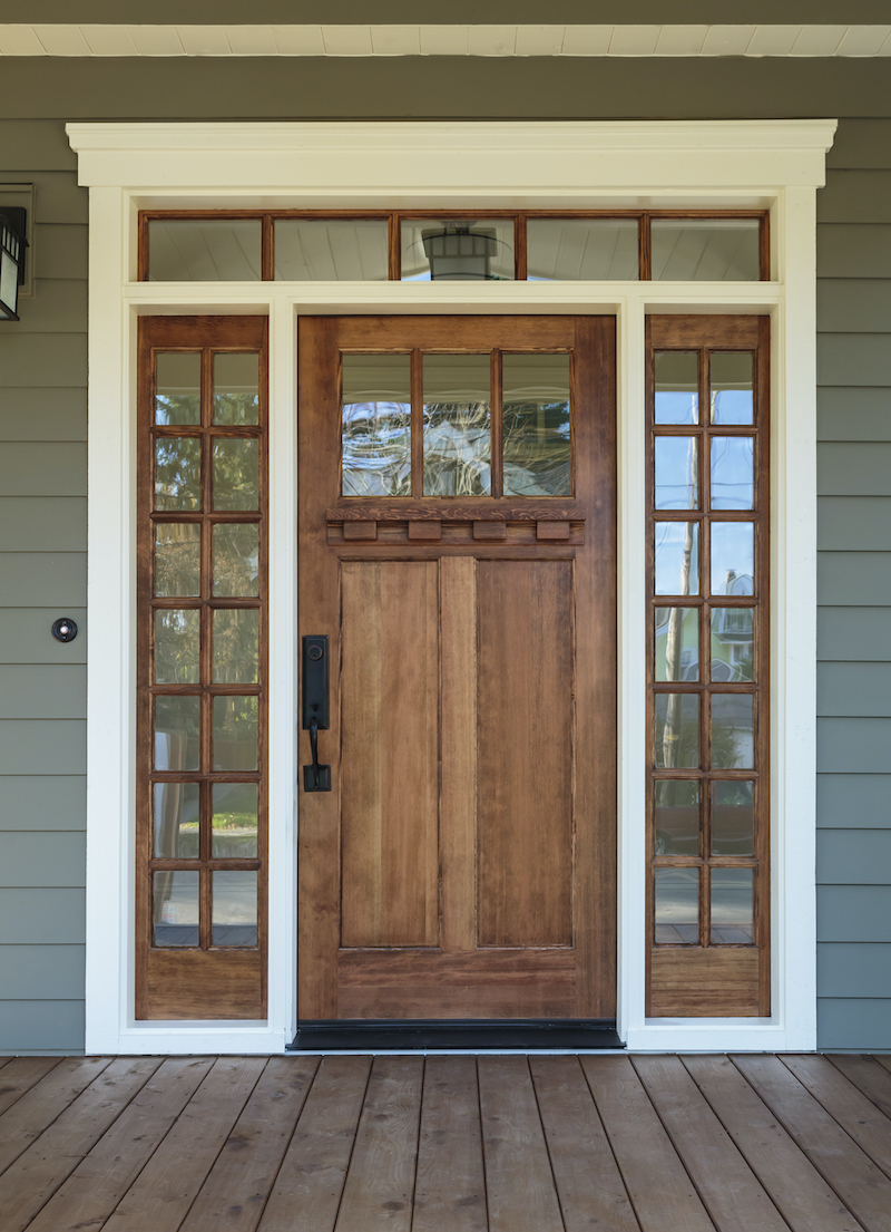 How To Choose A Front Door - Wood Stained