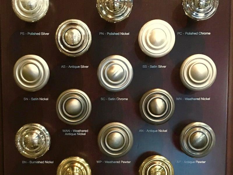 Kitchen Cabinet Hardware - Finishes