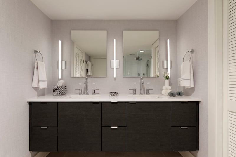 Meridian Homes - Remodeled Condo Master Bathroom