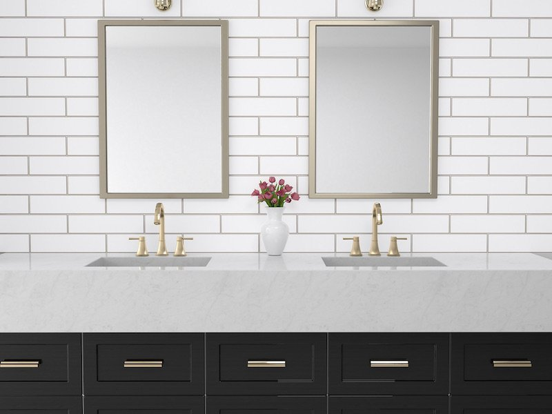 The Newest Trends In Bathroom Tile Design - Contrasting Grout
