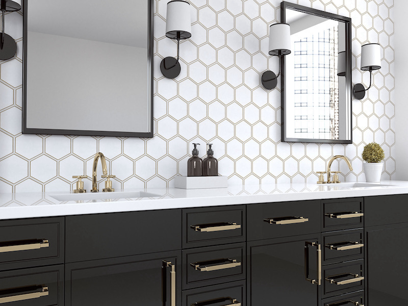 The Newest Trends In Bathroom Tile Design - Geometric