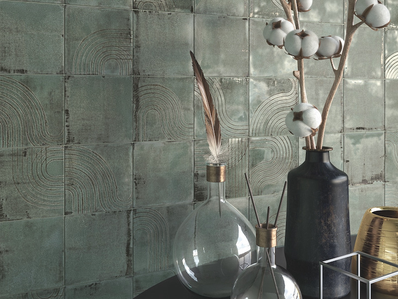 The Newest Trends In Bathroom Tile Design - Square Corrugated