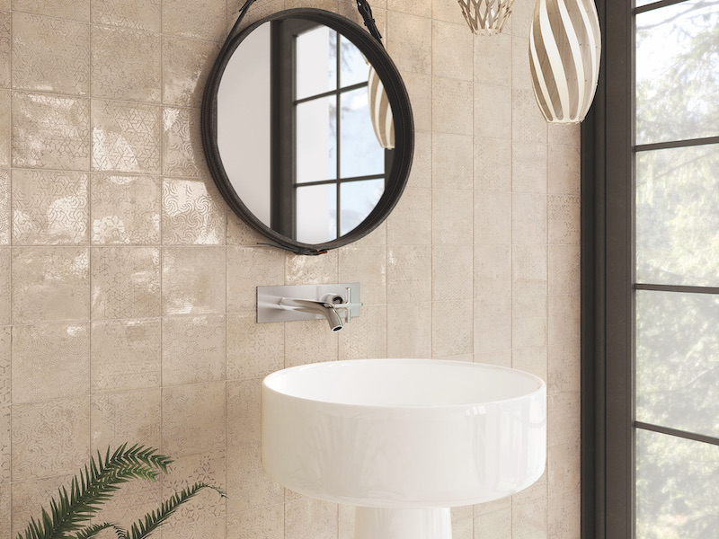 The Newest Trends In Bathroom Tile Design - Square Printed Design